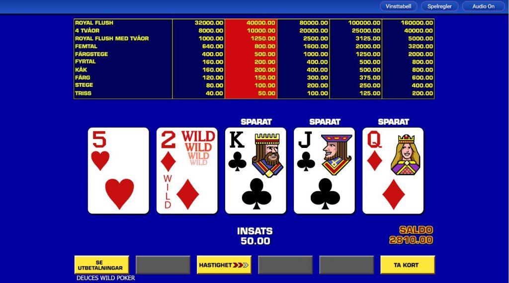 VideoPoker - Pokerautomater med hög RTP hos online casinon