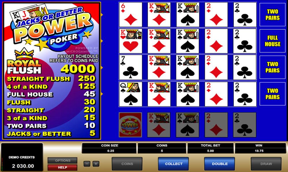 Jacks or Better - Störst inom video poker på nätcasinon